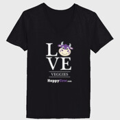 Ladies ComfortSoft V Neck LOVE